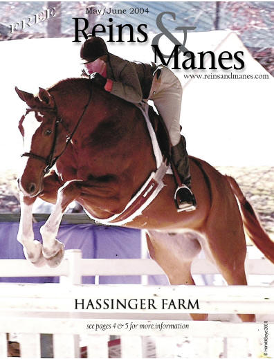 Warlord on the cover of Reins & Manes, May-June 2004